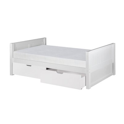 Gessner Twin Platform Bed with Drawers Bed Frame Color: White
