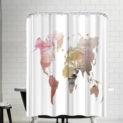 Ikonolexi World Map Shower Curtain