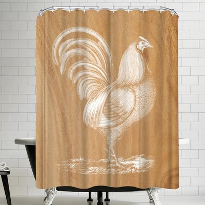 Ikonolexi Rustic Rooster Shower Curtain