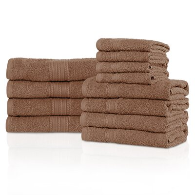 Kellerman 12 Piece 100% Cotton Towel Set Color: Coffee