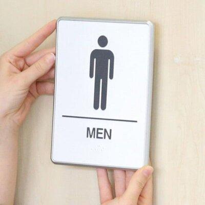 Aluminium Restroom Sign for Men with Braille