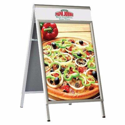 """Premium A Board Size: 22"""" H x 28"""" W, Color: Silver"""