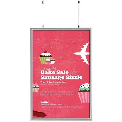 """Double Sided Snap Frame Size: 37.18"""" H x 25.18"""" W x 1.06"""" D"""