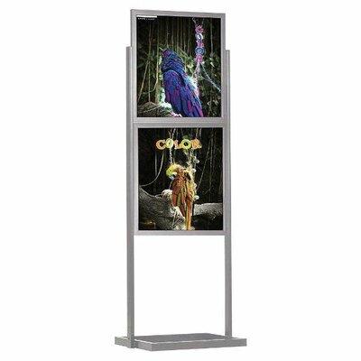 """Eco Info board Size: 28.91"""" H x 22.91"""" W, Color: Silver"""