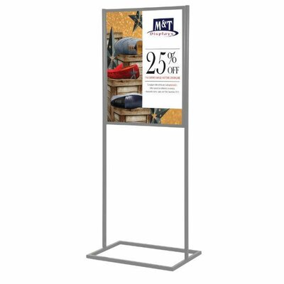 "Metal Info Board with 1 Tier Size: 31"" H x 22"" W, Color: Silver"