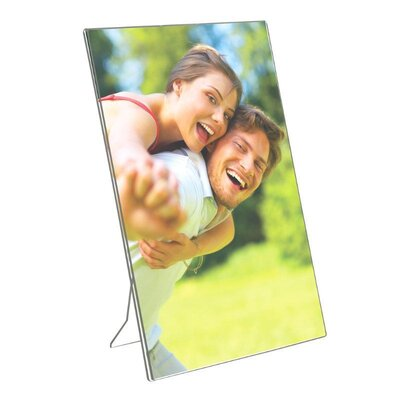 "Acrylic Photo Frame with Support Portrait Size: 11.12"" H x 8.5"" W"