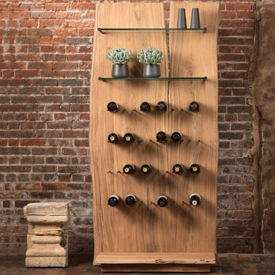 Live Edge 24 Bottle Floor Wine Rack