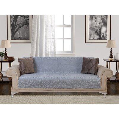 Box Cushion Sofa Slipcover Upholstery: Gray