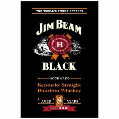 "Jim Beam Vertical Banner Size: 24"" H x 36"" W x 0.18"" D"