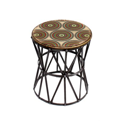 Galle Round Metal Accent Stool