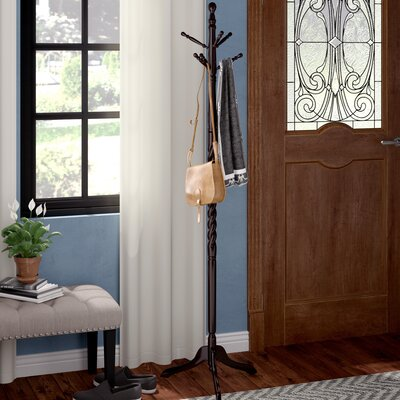Twist Coat Rack Finish: Cherry