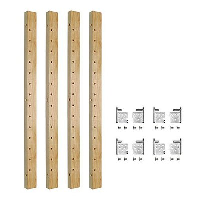 """Burkeville 2-Drawer Pilaster Adjustable Bracket Pull Out Pantry Size: 28"""" H x 2.5"""" W x 1"""" D"""