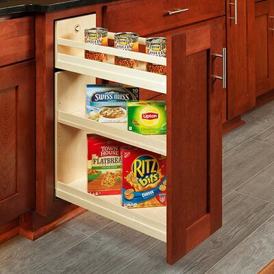 """Burkett Pull Out Pantry Finish: Solid Maple, Size: 26.25"""" H x 11.5"""" W x 21"""" D"""