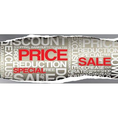 """Super Sale Banner Size: 30"""" H x 72"""" W x 0.25"""" D"""