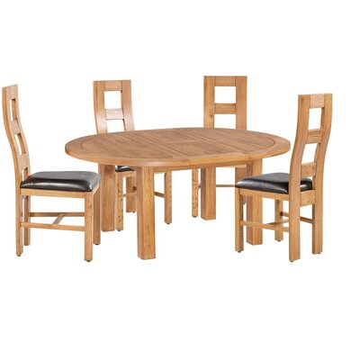 Carbajal 5 Piece Extendable Dining Set Color: Natural Oak