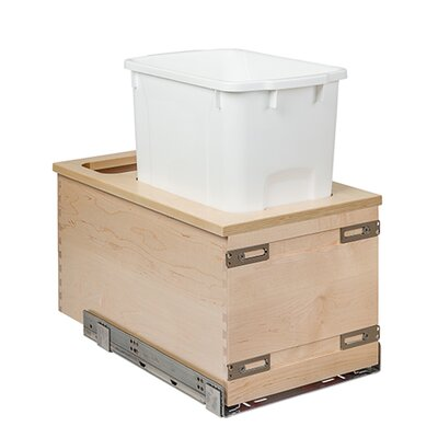 """Burkart Wide Single 34 qt. Pull Out Drawer Finish: Baltic Birch, Size: 19"""" H x 11.88"""" W x 21"""" D"""