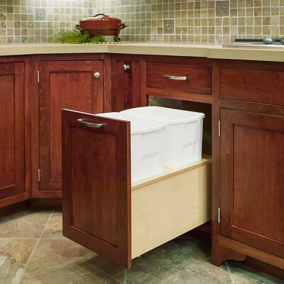 """Burkart Wide Single 34 qt. Pull Out Drawer Finish: Solid Maple, Size: 19"""" H x 11.88"""" W x 21"""" D"""
