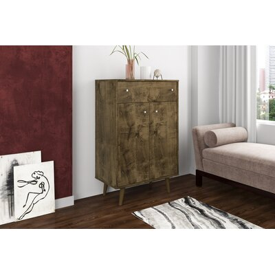 Lewis 1 Drawer Accent Cabinet Color: Rustic Brown