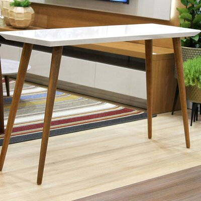 Enrique Console Table Color: White Gloss