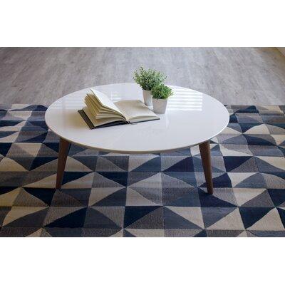 "Enrique Coffee Table Color: White Gloss, Size: 11.81"" H x 31.49"" W x 31.49"" D"
