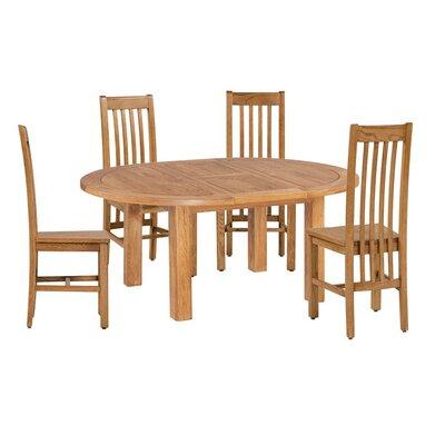 Covarrubias 5 Piece Extendable Dining Set Color: Natural Oak