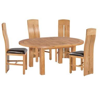 Kiazolu 5 Piece Extendable Breakfast Nook Dining Set Color: Natural Oak