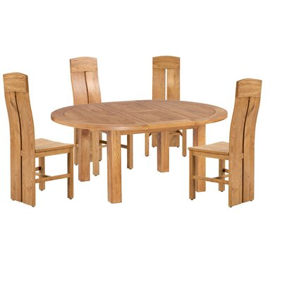 Kiazolu 5 Piece Extendable Dining Set Color: Natural Oak