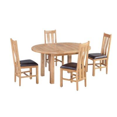 Ransom 5 Piece Extendable Dining Set Color: Natural Oak