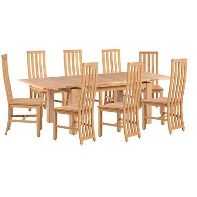 Arreola 9 Piece Extendable Dining Set Color: Natural Oak