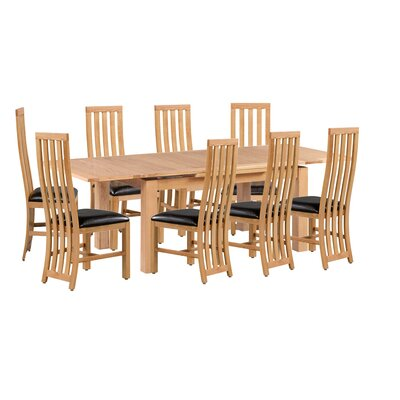 Arreola 9 Piece Extendable Dining Set Color: Natural Oak