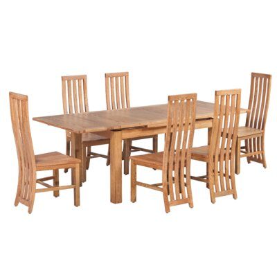 Arreola 7 Piece Extendable Dining Set Color: Light Dark Oak