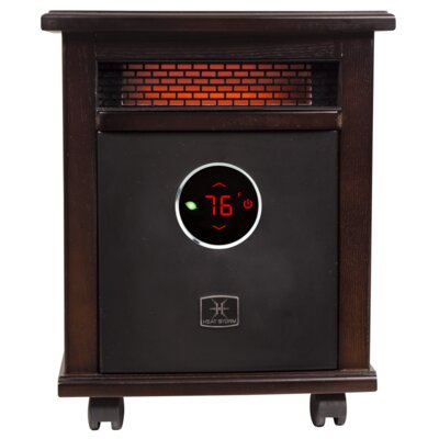 Logan Deluxe Portable 1,500 Watt Electric Infrared Cabinet Heater with Bluetooth