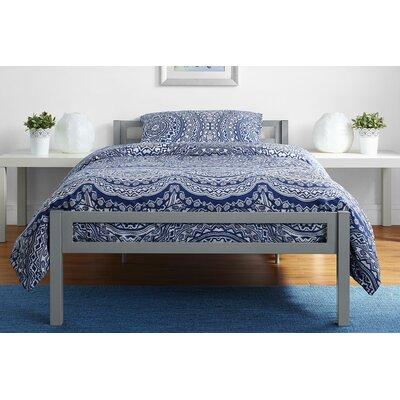 Burrell Metal Twin Platform Bed Color: Gray