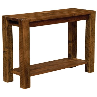 Barnwood Post Console Table