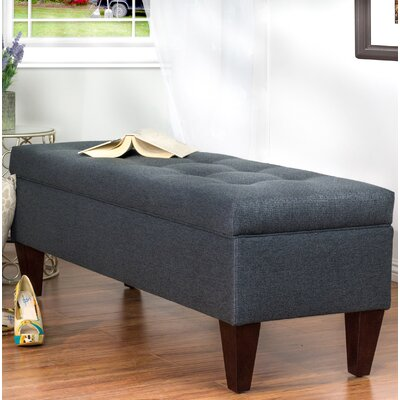 Woodside Upholstered Storage Bench Upholstery: Gray
