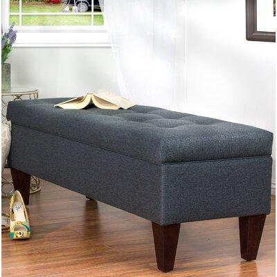 Woodside Upholstered Storage Bench Upholstery: Gray