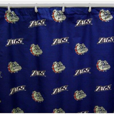 NCAA Cotton Shower Curtain NCAA: Gonzaga Bulldogs