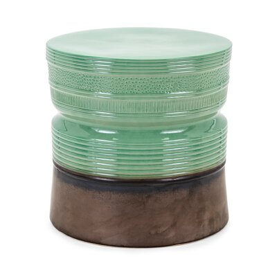 Steen Ceramic Garden Stool Finish: Green
