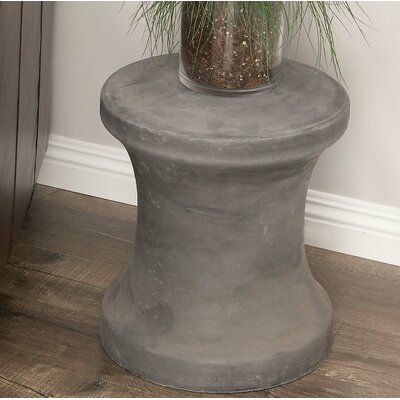 Hisle Spool Pin Shaped Accent Stool Color: Black