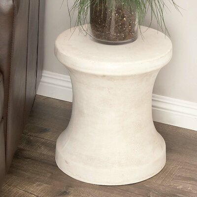 Hisle Spool Pin Shaped Accent Stool Color: White