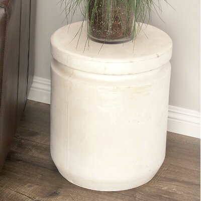 Hitchens Fiberclay Foot Accent Stool Color: White