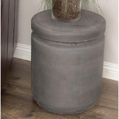 Hitchens Fiberclay Foot Accent Stool Color: Black