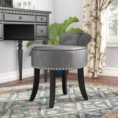 Emest Vanity Stool Color: Light Gray