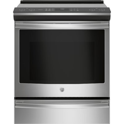 """30"""" Slide-In Electric Range Finish: Stainless Steel"""