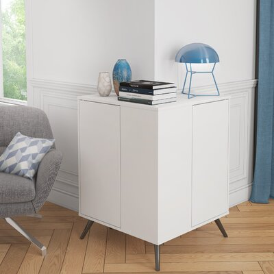 Daleville Outer Corner Accent Cabinet Color: White