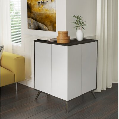 Daleville Outer Corner Accent Cabinet Color: Deep Gray/White