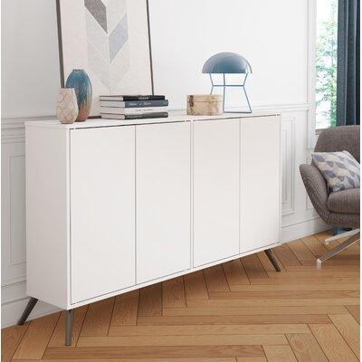 Daleville 4 Door Accent Cabinet Color: White