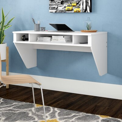 Dowlen Floating Desk Finish: Fresh White