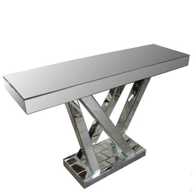 Yaeger Mirrored Console Table