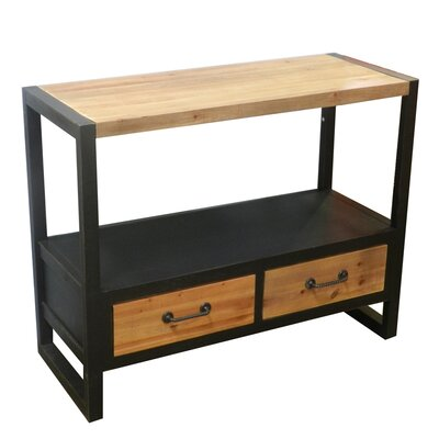 Rousey Wood and Metal Console Table